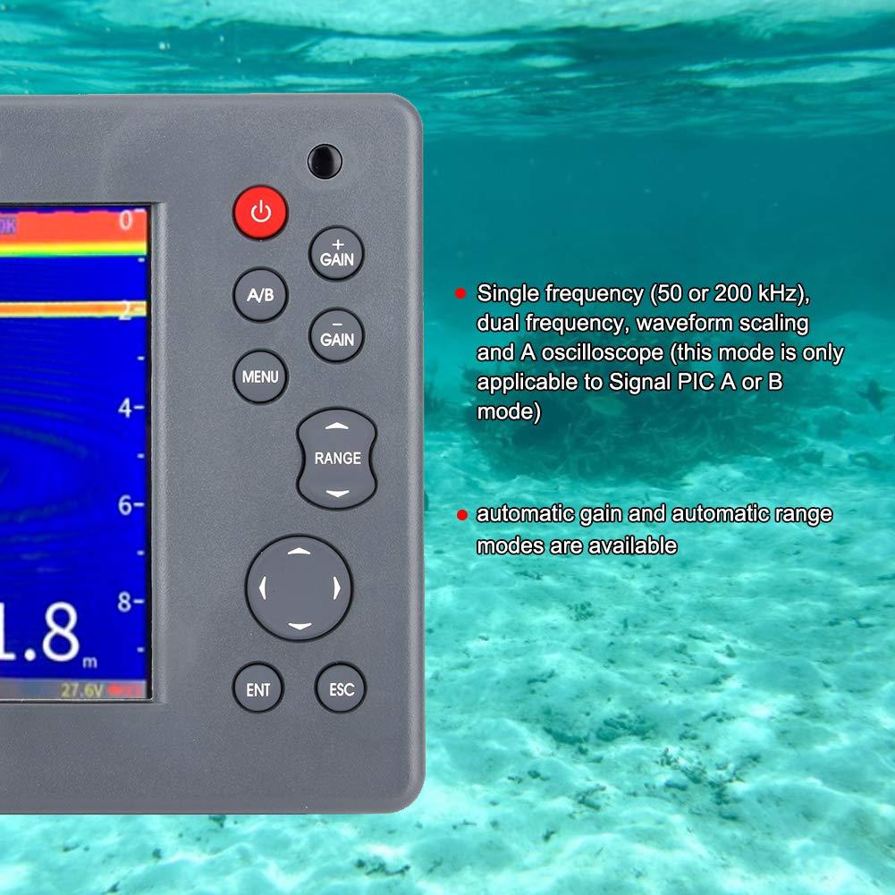 KIMISS Sonda de profundidad, 5.6in HF-620 Echo Sounder Sonda de profundidad Buscador de peces para la pesca de barcos marinos: Amazon.es: Coche y moto