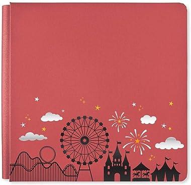 12x12 Cinnamon Sparkle Magic Await Album Cover Amusement Theme Park Theme Flex Hinge Photo Safe Creative Memories Album