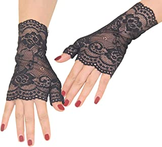 2019 Lace Gloves Women Wedding Tea Party Glove for Evening Sexy Prom Gloves
