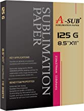 A-SUB Sublimation Paper 8.5x11 Inches for Any Inkjet Printer with Sublimation Ink 110 Sheets Letter Size