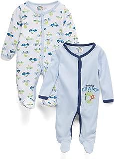 Sweet & Soft Baby Boys 2 Pack Sleep N Play Footie (Preemie - 9 Months)
