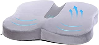 Travel Ease Memory Foam Coccyx Orthopedic Seat Cushion, Seat Cushion for Lower Back Pain and Sciatica Tailbone Pain Relief...
