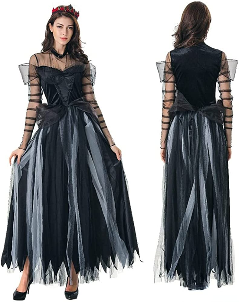 TiffyDance Women's Halloween Vampire Ranking TOP9 Dress Ghost Bride Latest item Scary Wit