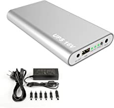 AlsterPlus DC Output 16V / 3.5A 20100mah 75Wh External Battery Fast Charger Charge and Discharge Simultaneously UPS Power for MacBook, Projector, Turntable, Aadios, DVD Player, POS Machine, Router