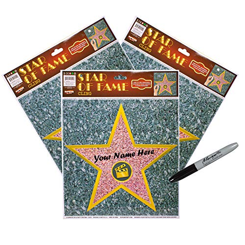 (12 Pack) Personalize Your Own Hollywood Stars of Fame Decor Kit