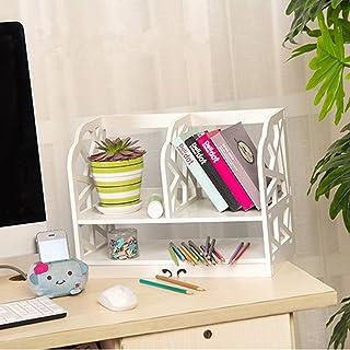 Pequeña estantería libros blanca desmontable en madera (Biblioteca Mueble de almacenaje para cámara Ecole escritorio, Modèle A: 30x21x40cm
