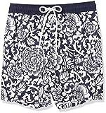 Amazon Essentials Men's 7' Swim Trunk, Black Vintage Floral,...