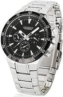 Reloj De Hombre Deportivos De Lujo Acero Inoxidable - Mens Bracelet Watch - CR8063SLBK-100