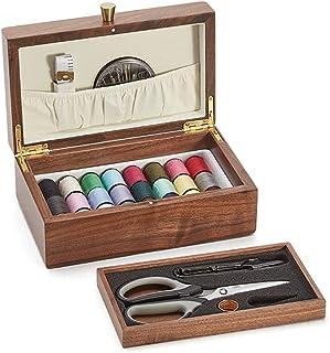 SHYPT Boîte à Aiguilles en Bois Ménage Portable Multi-Fonctionnement Set Tool Crochet de Couture à Main (Color : Brown, Si...