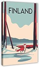 Finland Retro Reizen Art Billboard Canvas Poster Muur Art Decor Print Foto Schilderijen voor Woonkamer Slaapkamer Decorati...