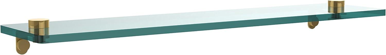 Allied Brass NS-1 22-PB 22-Inch by 5-Inch Glass Shelf