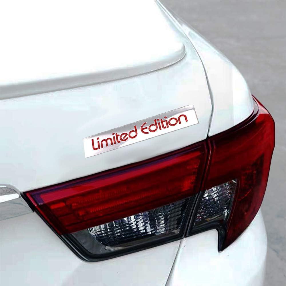 Sliver-Red 3D Limited Edition Logo Metal Emblem Badge Auto ...