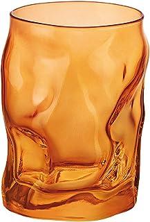 Bormioli Rocco Sorgente Trinkgläser, Orange, 2 Einheiten