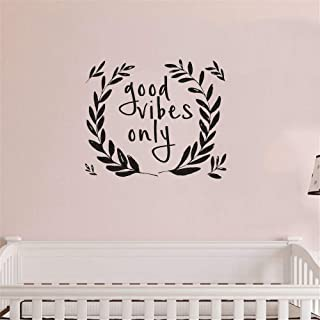 banehg Wall Art Stickers Quotes and Sayings Good Vibes Only for Trendy Dorm