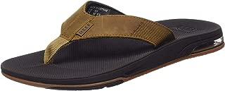 Men's Leather Fanning Low Sandals