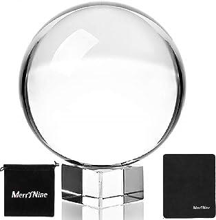 K9 Kristallkugel mit Ständer und Tasche, Sonnenfänger mit Mikrofasertasche, dekoratives und fotografisches Zubehör (60 mm Set, K9 klar)