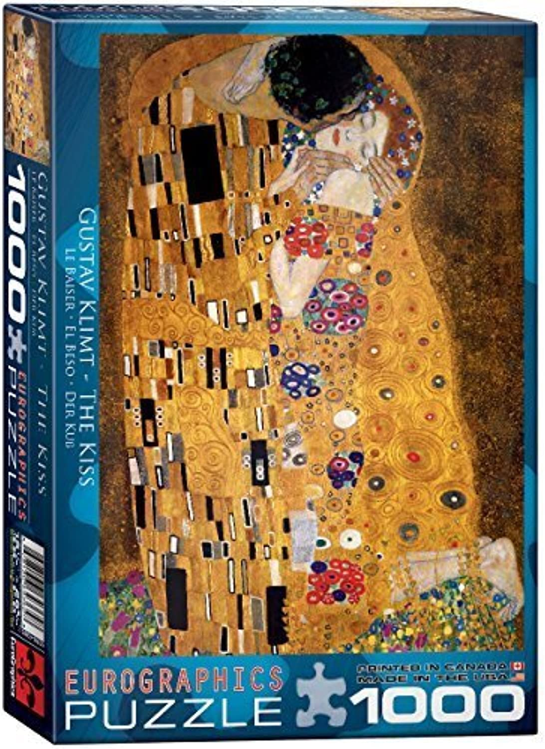 Eurographics the Kiss by Gustav Klimt Puzzle (1000 Pieces) by Eurographics