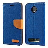 Motorola Moto Z3 Play Case, Oxford Leather Wallet Case with