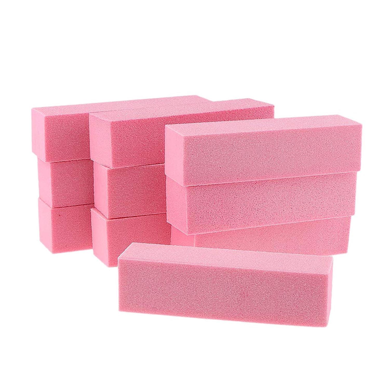 見込み安心させる不機嫌そうな10個 ネイルファイルブロック マニキュア バッファーブロック ピンク