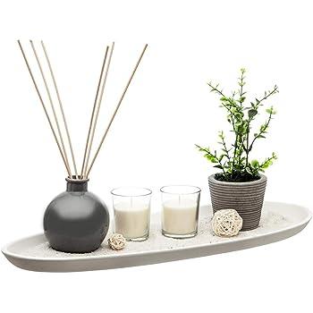 Flanacom Plateau d/écoratif d/écoratif avec d/écorations de table moderne D/écoration de table pour la maison