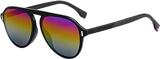 FENDI - Gafas de Sol GLASS FF M0055/G/S BLACK/MULTICOLOR 56/15/150 hombre