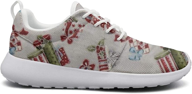 FEWW11 Women Fashion Lightweight shoes Sneakers Christmas Window Bird-01 Canvas Upper Sport Lace-Up