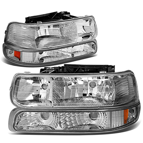 DNA Motoring HL-OH-CS99-4P-CH-AB Headlight (Driver & Passenger Side)