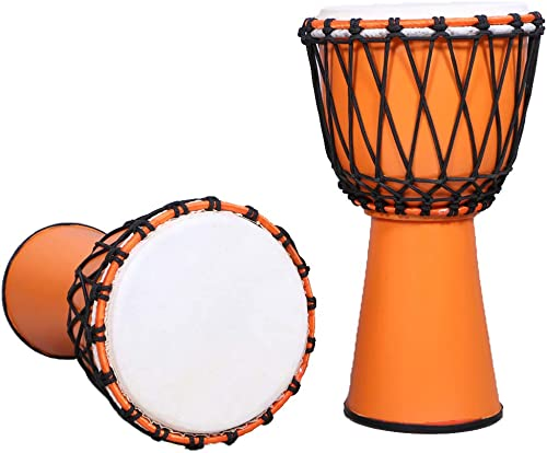 Star Musical FIBER Djembe 8 Inch Musical Instrument Percussion Hand Drums Tribal Dholki African Free Style Rope Tuned...