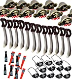 Pirate Party Set- 12 Pirate Hats, 12 Patches, 12 Swords and 12 Telescopes