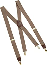 Dockers Suspenders for Men-Heavy Duty Clips and X Back Adjustable Straps for Adults