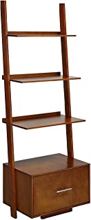 Convenience Concepts American Heritage Ladder Bookcase File Drawer