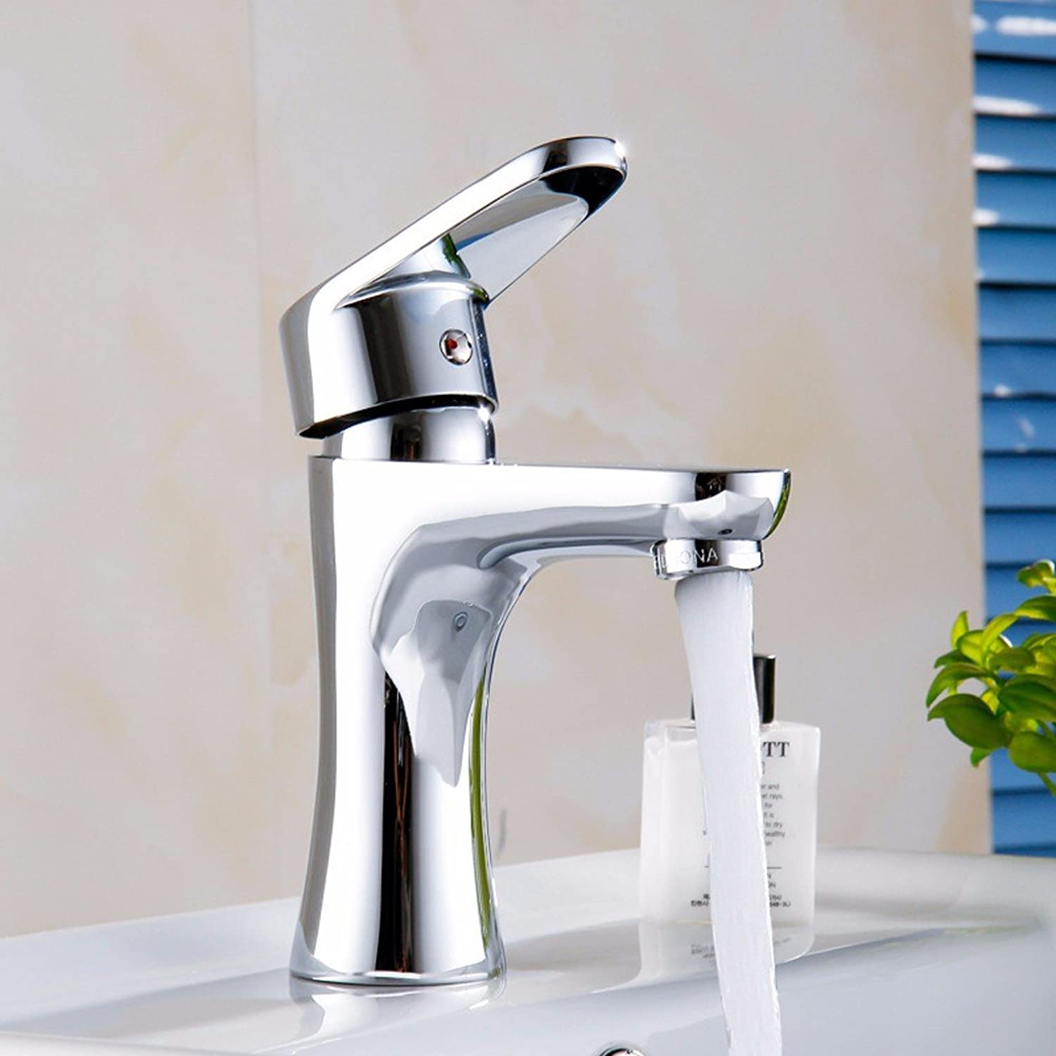Hlluya Professional Sink Mixer Tap Kitchen Faucet The copper cold water faucet, Tower One-on-one-hole Mixer Taps