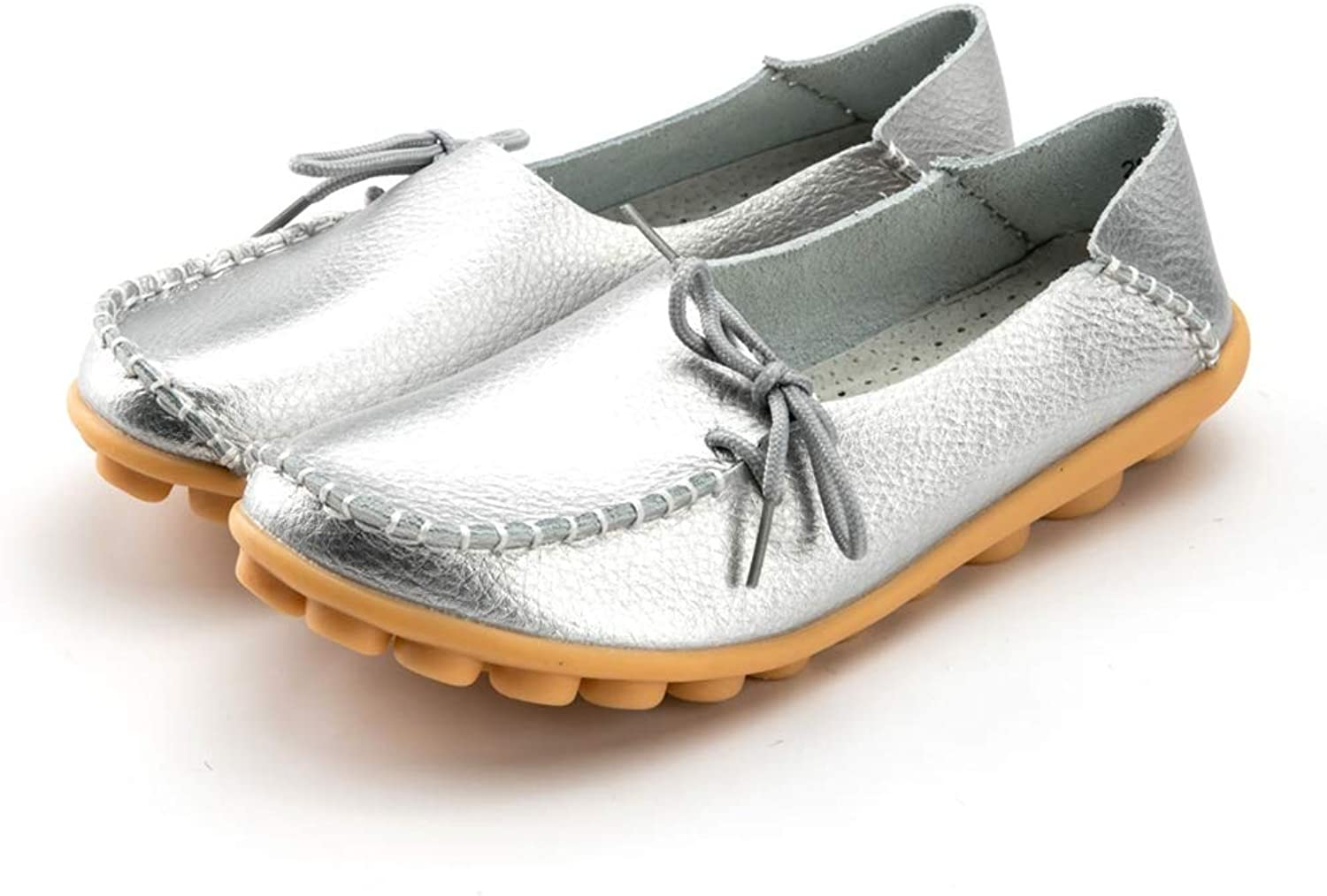 T-JULY Women Genuine Leather Flat Moccasin Loafer Casual Ladies Slip On Cow Driving Fashion Ballet Boat Summer shoes