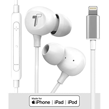 Amazon Com Thore 2020 Iphone Se Earbuds V60 Wired In Ear Earphones Apple Mfi Certified Lightning Headphones With Mic For Iphone 7 8 Plus X Xs Max Xr 11 Pro Max Se White Home Audio