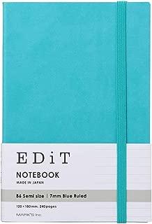 マークス 横罫ノート B6変型 EDiT ターコイズブルー EDI-NB14-BL