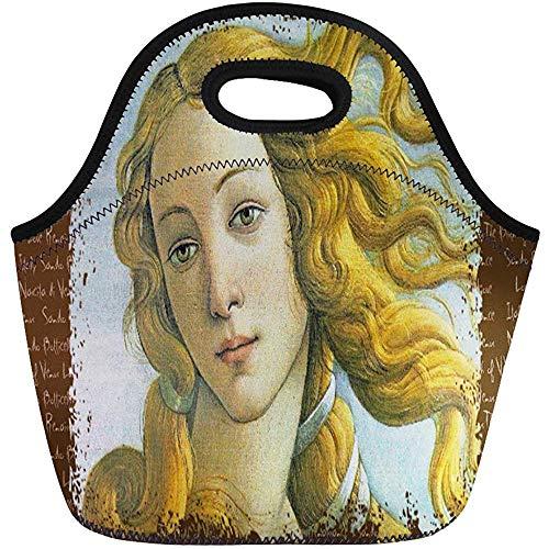 Lunch Tassen Geboorte Venus Sandro Botticelli Italië Beroemde Schilderij Masterpiece Neopreen Lunch Bag Lunchbox Tote Bag Draagbare Picknick Bag Koeltas