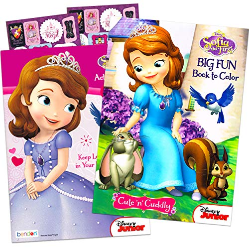 Disney Sofia the First Coloring and Activity Book Set (2 Books ~ 96...