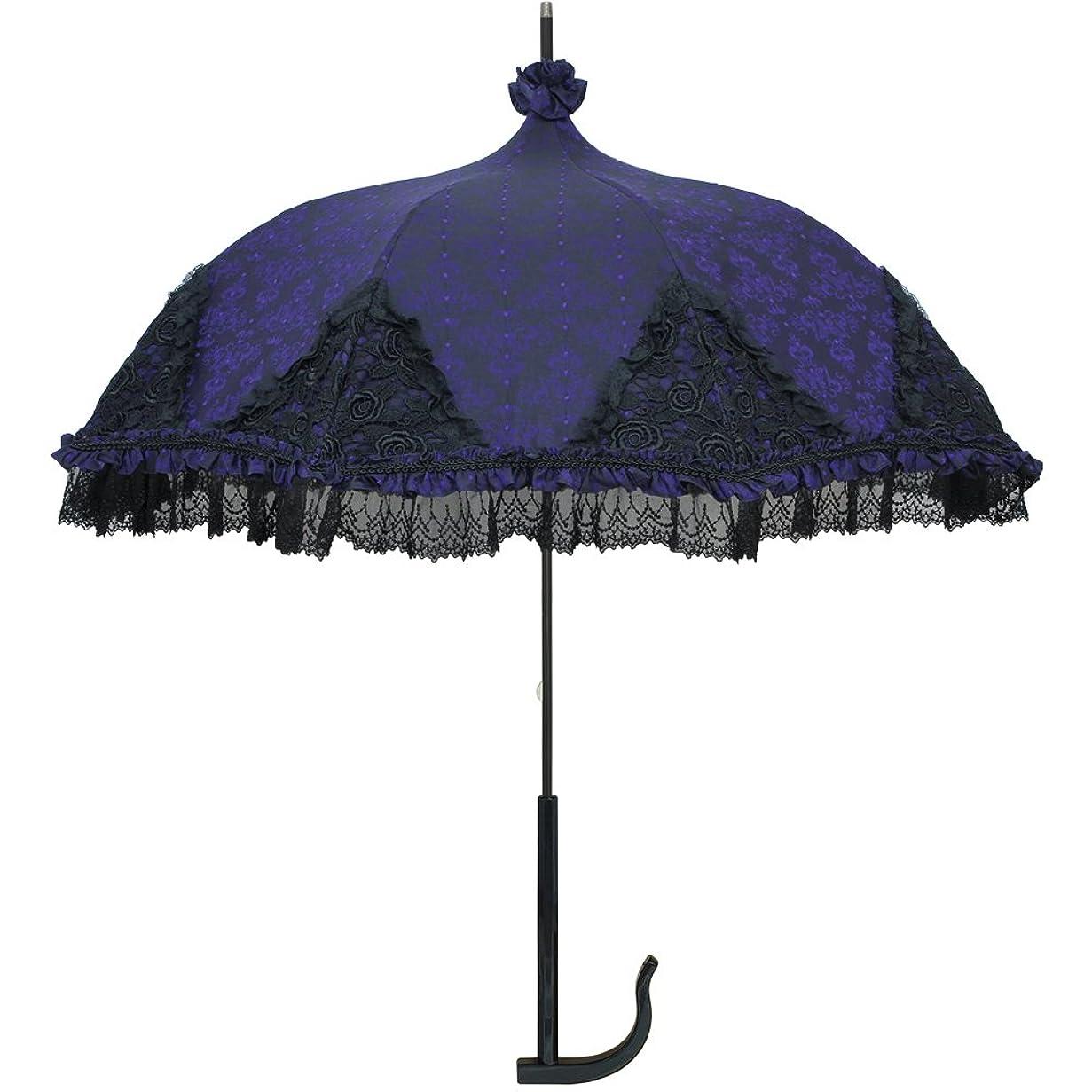 資料理想的状ルミエーブル 長傘 手開き ラグジュアリー シャンデリア 高級パゴタアンブレラ 全3色 パープル 8本骨 47cm UVカット率 99.0%以上 グラスファイバー骨 日傘/晴雨兼用傘 0101-16001