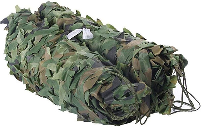 Liul Filet D'ombrage Maille De Prougeection Solaire Camouflage Tissu d'Oxford Jungle Cacher Militaire, Multi-Taille,vert-6X6M