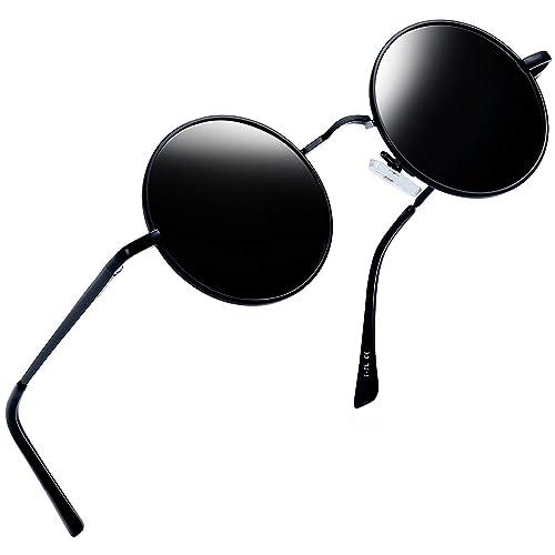 30e624596cf0d Joopin-Round Retro Polaroid Sunglasses Driving Polarized Glasses Men  Steampunk