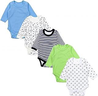 TupTam Body para Bebés Niño Manga Larga Paquete de 5