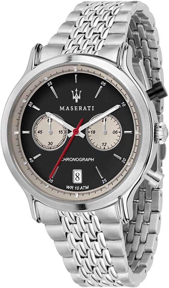 Maserati cronografo orologio da uomo, collezione legend in acciaio inossidabile 8033288861003