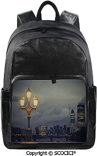 SCOCICI Backpack Lightweight School Bag Westminster Bridge London City UK Storm