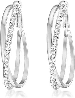 Women's Jewelry 18K Gold Filled CZ Diamond Hoop Pierced Earring for Women Valentine's Day Gifts Gm039Rg