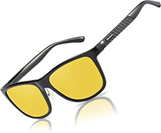Bircen HD Night Vision Driving Anti-Glare Glasses for Men Women Al-Mg Metal Frame Rainy SafePolarized Fashion Sun glasses