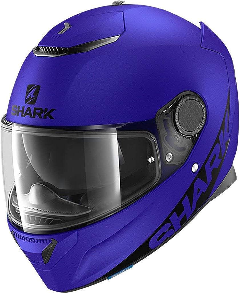 Shark Unisex-Adult 2021 new Full Face shipfree Spartan 1.2 Mult Blank MAT-Blue-S.