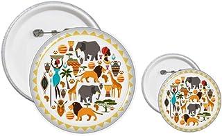 Kit de création de boutons et de badges d'animaux sauvages de l'Afrique
