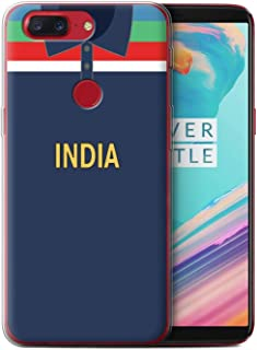 eSwish Gel TPU Phone Case/Cover for OnePlus 5T / India/Indian Design/Retro Cricket Kit World Cup 1992 Collection