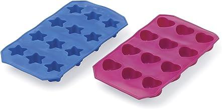 Progressive International Set of 2 Heart and Stars Flexible Ice Trays