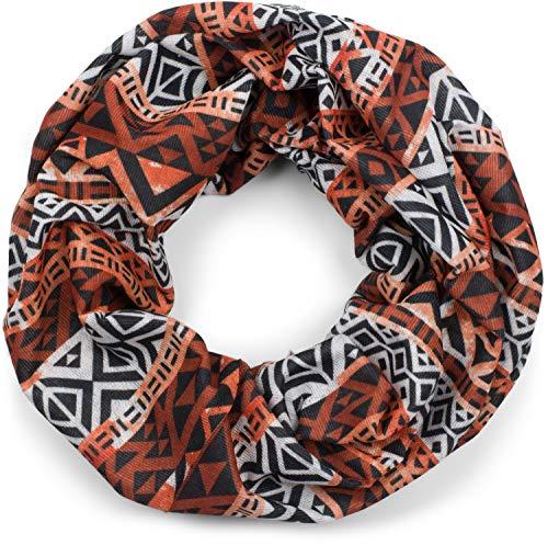 styleBREAKER Bufanda multifuncional unisex con patrón azteca, bufanda tubular, cinta para la cabeza, cinta para el pelo, pañuelo, bufanda de lazo 01012038